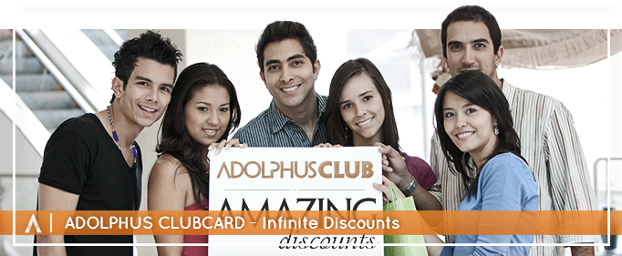 smiling people holding amazing discounts board